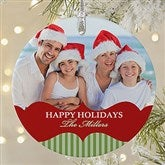 Classic Holiday Personalized Photo Premium Ornament - 20051