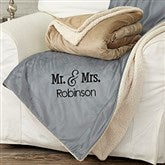 Mr. and Mrs. Embroidered 60x72 Sherpa Blanket - 20070-L
