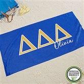 Delta Delta Delta Personalized Beach Towel - 20073