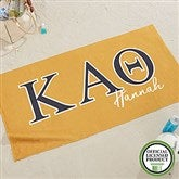 Kappa Alpha Theta Personalized Beach Towel - 20078
