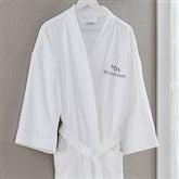 Mrs. White Velour Personalized Robe - 20083-MRS
