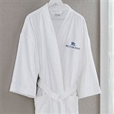 Mr. White Velour Personalized Robe - 20083-MR