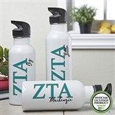 Zeta Tau Alpha Personalized Water Bottle - 20099