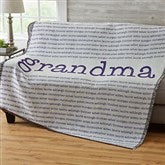 Our Special Lady Personalized Woven Throw - 20101-A