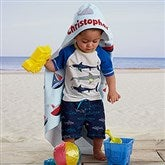 Water World Personalized Hooded Beach & Pool Towel - 20117