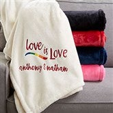 Love Is Love Personalized 60x80 Fleece Blanket - 20122-L