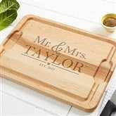 The Wedding Couple Personalized Maple Cutting Board-12x17 - 20127
