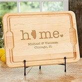 Home State Personalized Maple Cutting Board - 12x17 - 20129
