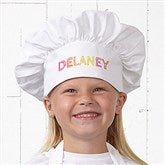 Stencil Name Personalized Youth Chef Hat - 20141-YH