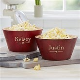 The Wedding Couple Personalized Red Bamboo Bowl- Small - 20149-S