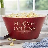 The Wedding Couple Personalized Red Bamboo Bowl- Large - 20149-L