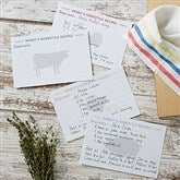 Farmhouse Kitchen Personalized Recipe Cards - 4x6 - 20150-C