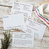 Mr. & Mrs. Personalized Recipe Cards- 4x6 - 20151-C