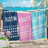 Tribal Inspired Name Personalized Beach Towel - 20152