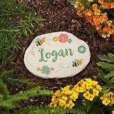 Grandma's Bee Happy Garden Personalized Round Garden Stone - Small - 20169-S