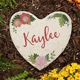 Mom's Blossoming Garden Personalized Heart Garden Stone - Small - 20171-S