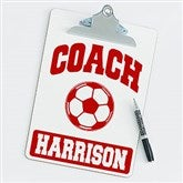 Soccer Personalized Coach Clipboard - 20199