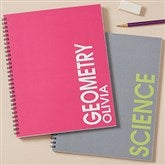 Bold Name Personalized Large Notebooks - Set of 2 - 20203