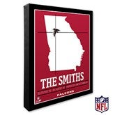 Atlanta Falcons Personalized NFL Stadium Coordinates Canvas Print - 20206-16x20