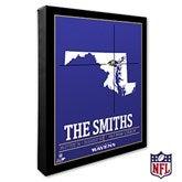 Baltimore Ravens Personalized NFL Stadium Coordinates Canvas Print - 20207-16x20