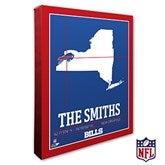 Buffalo Bills Personalized NFL Stadium Coordinates Canvas Print - 20208-16x20
