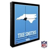Carolina Panthers Personalized NFL Stadium Coordinates Canvas Print - 20209-16x20