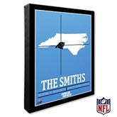 Carolina Panthers Personalized NFL Stadium Coordinates Canvas Print - 20209-16x20