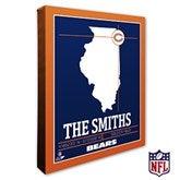 Chicago Bears Personalized NFL Stadium Coordinates Canvas Print - 20210-16x20