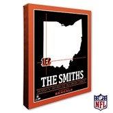 Cincinnati Bengals Personalized NFL Stadium Coordinates Canvas Print - 20211-16x20