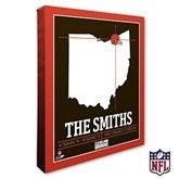 Cleveland Browns Personalized NFL Stadium Coordinates Canvas Print - 20212-16x20