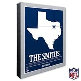 Dallas Cowboys Personalized NFL Stadium Coordinates Canvas Print - 20213-16x20
