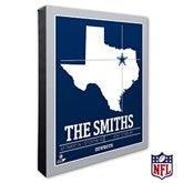 Dallas Cowboys Personalized NFL Stadium Coordinates Canvas Print - 20213-16x20