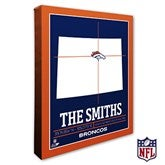 Denver Broncos Personalized NFL Stadium Coordinates Canvas Print - 20214-16x20