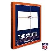 Denver Broncos Personalized NFL Stadium Coordinates Canvas Print - 20214-16x20