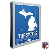 Detroit Lions Personalized NFL Stadium Coordinates Canvas Print - 20215-16x20