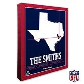 Houston Texans Personalized NFL Stadium Coordinates Canvas Print - 20217-16x20