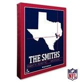 Houston Texans Personalized NFL Stadium Coordinates Canvas Print - 20217-16x20