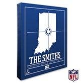 Indianapolis Colts Personalized NFL Stadium Coordinates Canvas Print - 20218-16x20