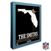 Jacksonville Jaguars Personalized NFL Stadium Coordinates Canvas Print - 20219-16x20