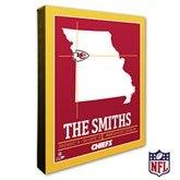 Kansas City Chiefs Personalized NFL Stadium Coordinates Canvas Print - 20220-16x20