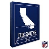 Los Angeles Rams Personalized NFL Stadium Coordinates Canvas Print - 20222-16x20