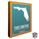 Miami Dolphins Personalized NFL Stadium Coordinates Canvas Print - 20223-16x20