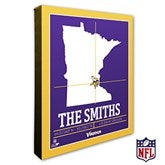 Minnesota Vikings Personalized NFL Stadium Coordinates Canvas Print - 20224-16x20
