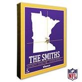 Minnesota Vikings Personalized NFL Stadium Coordinates Canvas Print - 20224-16x20