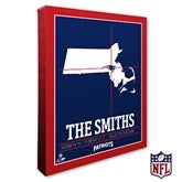 New England Patriots Personalized NFL Stadium Coordinates Canvas Print - 20225-16x20