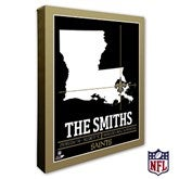 New Orleans Saints Personalized NFL Stadium Coordinates Canvas Print - 20226-16x20
