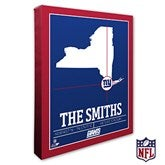 New York Giants Personalized NFL Stadium Coordinates Canvas Print - 20227-16x20