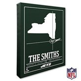 New York Jets Personalized NFL Stadium Coordinates Canvas Print - 20228-16x20