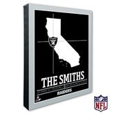 Oakland Raiders Personalized NFL Stadium Coordinates Canvas Print - 20229-16x20