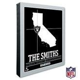 Oakland Raiders Personalized NFL Stadium Coordinates Canvas Print - 20229-16x20